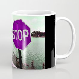 Iterations of a Stop Sign #4: Violet Coffee Mug