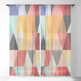 Mid-Century Modern Color Story Sheer Curtain