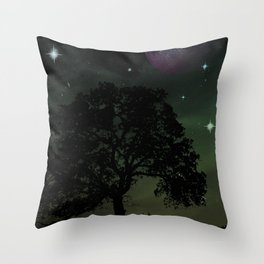 Spaceview at Sunset Throw Pillow