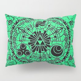 Green Circle Of Triangle Pillow Sham