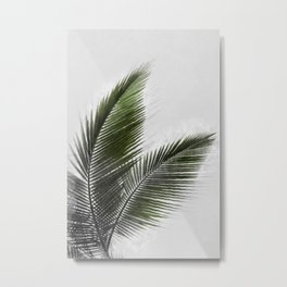 Palm leaf drawing Metal Print