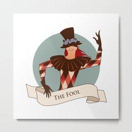 Tarot Card. The Fool Metal Print
