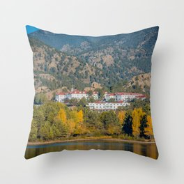 Beginning of Autumn Stanley Hotel Estes Park Rocky Mountains Colorado Throw Pillow