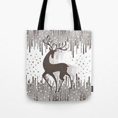 Dancing Deer - Black & White Tote Bag
