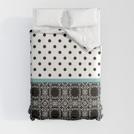 A combined decorative pattern . Comforters