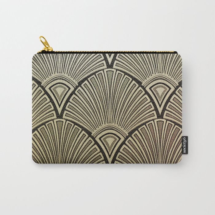 Golden Art Deco pattern Carry-All Pouch