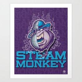 Steam Monkey 2 Art Print