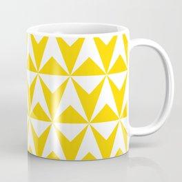 Mid Century Modern Triangle Pattern 531 Yellow Kaffeebecher