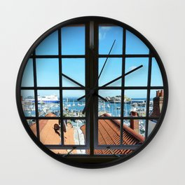 Through The Window Wall Clock
