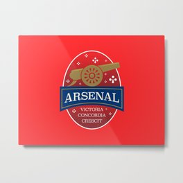 North London Red Football Metal Print