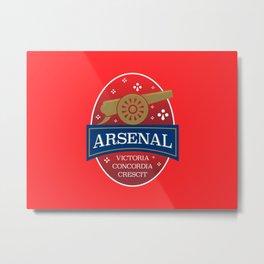 North London Red Football Metal Print