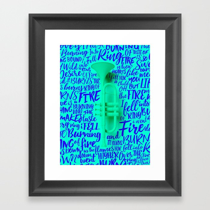 Lyrics & Type - Johnny Cash Framed Art Print by benfearnley | Society6