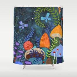 mushroom magic Shower Curtain