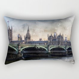 london-parliament-england-ben-ben Rectangular Pillow