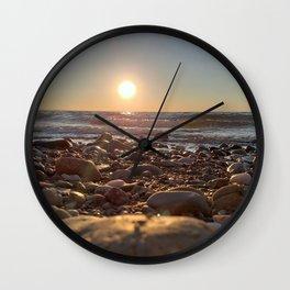 Majestic Beach Sunset Wall Clock