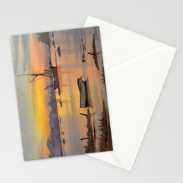 Thames Barge At Sunrise - Pin Mill Suffolk Stationery Cards
