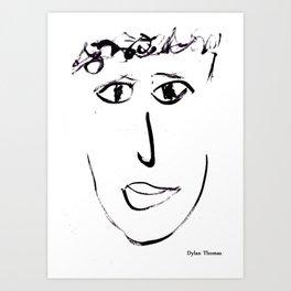 Dylan Thomas Art Print