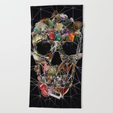 Fragile Skull Beach Towel