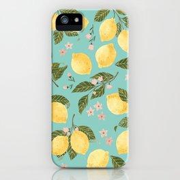 Gouache Lemons iPhone Case