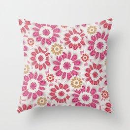 Feminine Flowers Pattern Throw Pillow