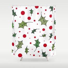 Christmas holly 1 Shower Curtain
