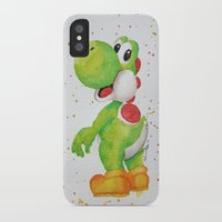 yoshi iPhone & iPod Cases featuring Yoshi by Sabina's Arts