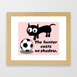 Cat Football Framed Art Print