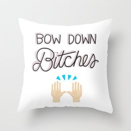 Bow Down Throw Pillow