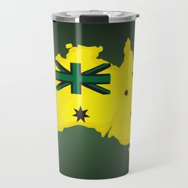 Australian flag , Australia map,lets celebrate the australian national day Travel Mug