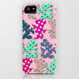 Mickey and Minnie pattern iPhone Case