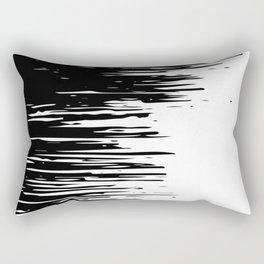Carefree Black and White Rectangular Pillow