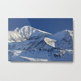 Snowy mountains. 3.478 meters Metal Print