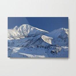 Snowy mountains. 3.478 meters Metal Print