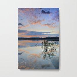 """""""Magic sky"""". Sunset at the lake. Metal Print"""
