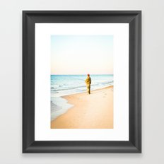 Beach Fishing Framed Art Print