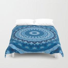 blue mandala 1 Duvet Cover