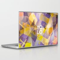 sayings Laptop & iPad Skins featuring Dreams of YOLO Vol.1 by HappyMelvin