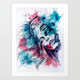 Marijane by carographic, Carolyn Mielke Art Print