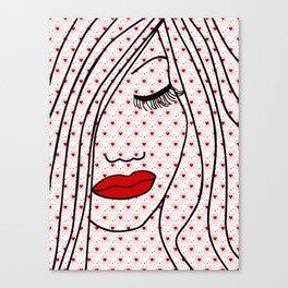 Portrait Of Love Canvas Print