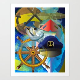Nautical Design Art Print