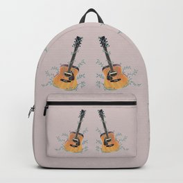 Acoustic Guitar with Vines Illustration  Backpack