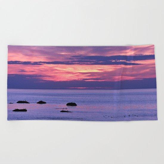 Surreal Sunset Beach Towel