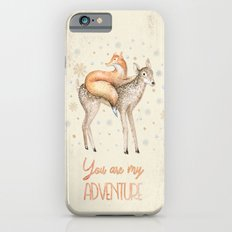 You are my adventure- fox and deer in winter- merry christmas Slim Case iPhone 6s