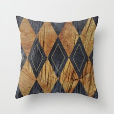 Wood cut abstraction Throw Pillow