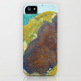 Le Bec du Hoc Grandcamp Georges Seurat - 1885 Impressionism Modern Populism Oil Painting iPhone Case