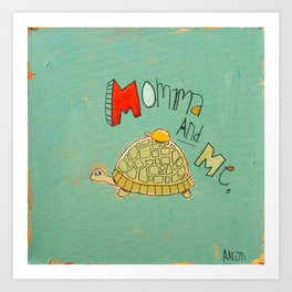 Momma and Me Art Print