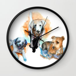 dogs#1 Wall Clock