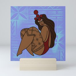 UrbanNesian Samoan Pagai Taupou Mini Art Print