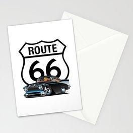 Route 66 Classic Car Nostalgia Stationery Cards