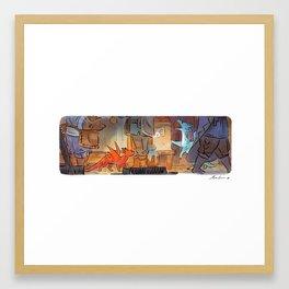 Mamie Dragon - Market Framed Art Print